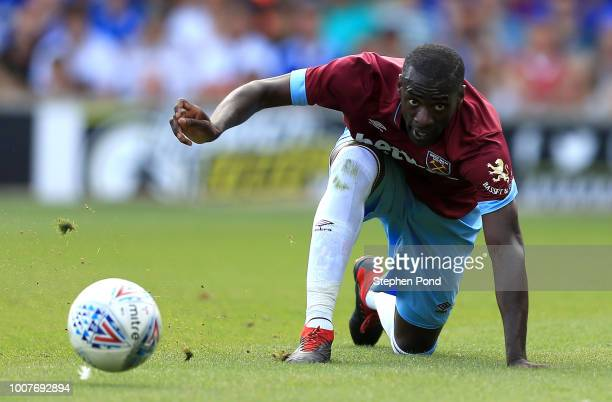 Pedro Obiang of West Ham United during the preseason friendly match between Ipswich Town and West Ham United at Portman Road on July 28 2018 in...