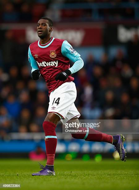Pedro Obiang of West Ham United in action during the Barclays Premier League match between West Ham United and West Bromwich Albion at the Boleyn...