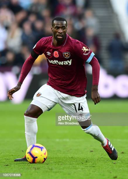 Pedro Obiang of West Ham United in action during the Premier League match between West Ham United and Burnley FC at London Stadium on November 3 2018...