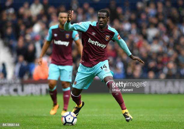 Pedro Obiang of West Ham United in action during the Premier League match between West Bromwich Albion and West Ham United at The Hawthorns on...