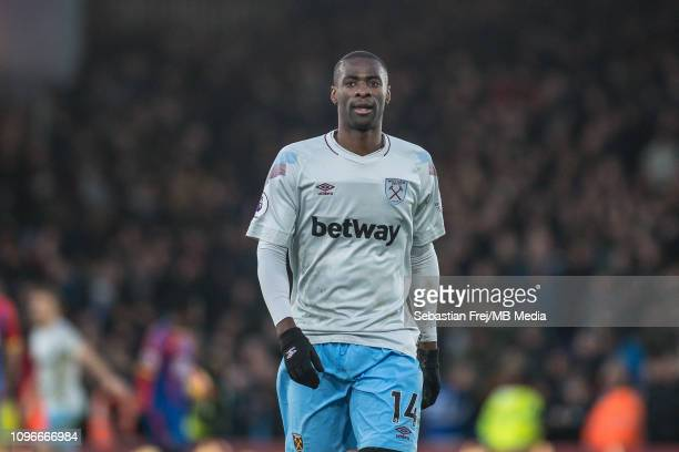 Pedro Obiang of West Ham United looks on during the Premier League match between Crystal Palace and West Ham United at Selhurst Park on February 9,...