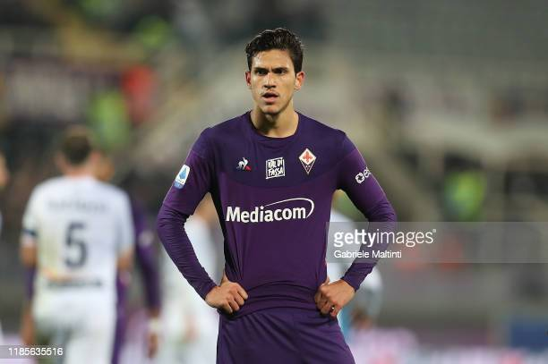 Pedro of ACF Fiorentina shows his dejection during the Serie A match between ACF Fiorentina and US Lecce at Stadio Artemio Franchi on November 30,...