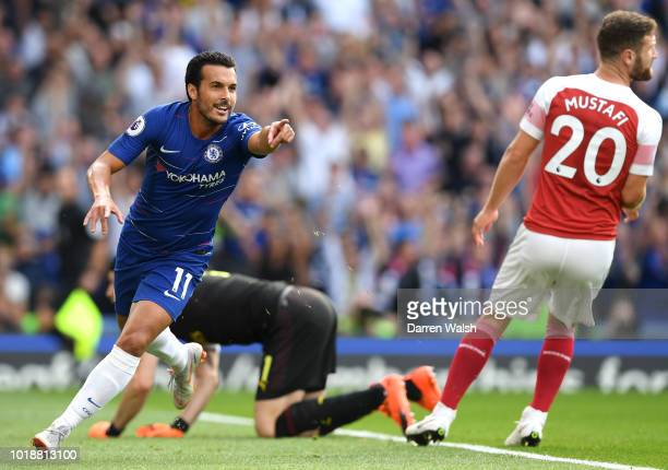Sokratis Papastathopoulos of Arsenal gestures during the Premier League match between Chelsea FC and Arsenal FC at Stamford Bridge on August 18 2018...