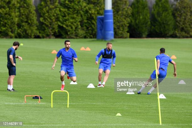 Pedro of Chelsea during a small group training session at Chelsea Training Ground on May 22 2020 in Cobham England
