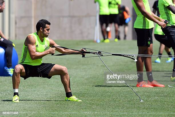 Pedro of Chelsea during a training session on July 26 2016 at the UCLA in Los Angeles California