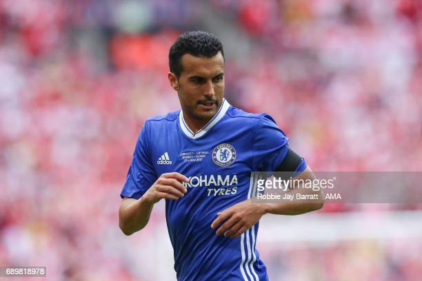 Pedro of Chelsea during the Emirates FA Cup Final match between Arsenal and Chelsea at Wembley Stadium on May 27 2017 in London England