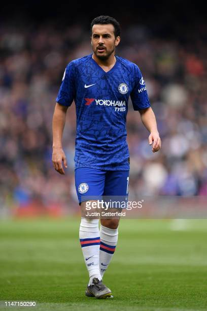 Pedro of Chelsea during the Premier League match between Chelsea FC and Watford FC at Stamford Bridge on May 05 2019 in London United Kingdom