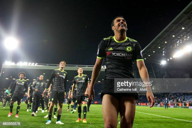 Pedro of Chelsea during the Premier League match between West Bromwich Albion and Chelsea at The Hawthorns on May 12 2017 in West Bromwich England