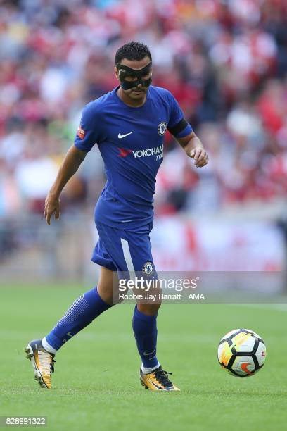 Pedro of Chelsea during the The FA Community Shield between Chelsea and Arsenal at Wembley Stadium on August 6 2017 in London England