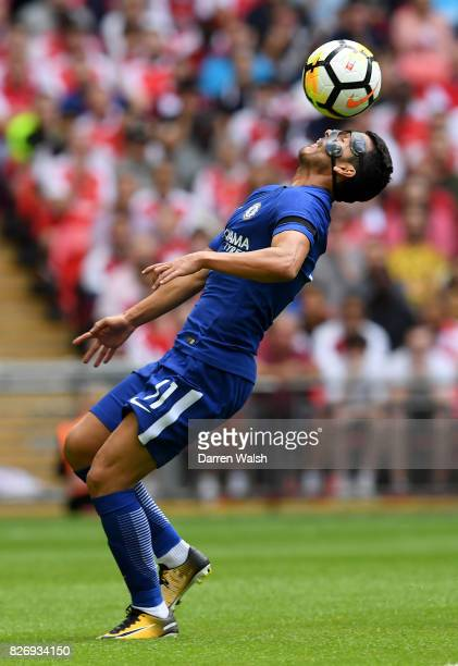 Pedro of Chelsea in action during the The FA Community Shield final between Chelsea and Arsenal at Wembley Stadium on August 6 2017 in London England