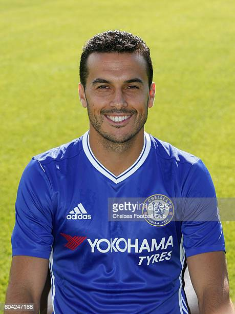 Pedro of Chelsea poses for the headshot at Chelsea Training Ground on September 13 2016 in Cobham England