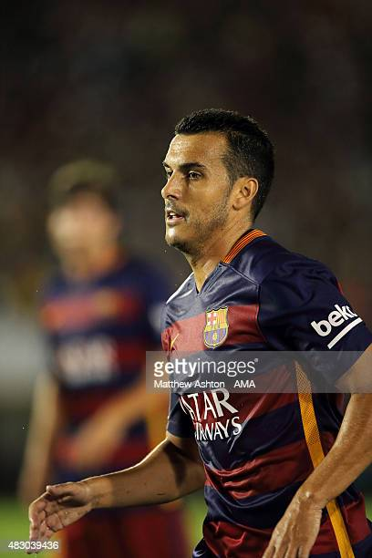 Pedro of FC Barcelona during the International Champions Cup 2015 match between FC Barcelona and Los Angeles Galaxy at Rose Bowl on July 21 2015 in...