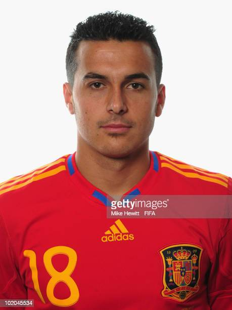 Pedro of Spain poses during the official Fifa World Cup 2010 portrait session on June 13 2010 in Potchefstroom South Africa