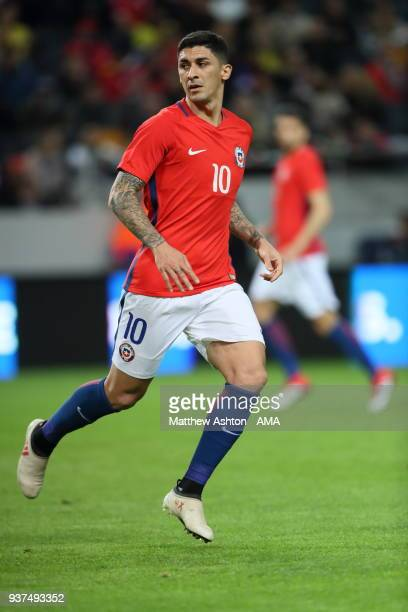 Pedro Pablo Hernandez of Chile during the International Friendly match between Sweden and Chile at Friends arena on March 24 2018 in Solna Sweden