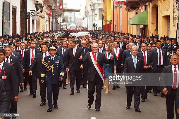 Pedro Pablo Kuczynski assumed today the presidency of Peru After taking oath in Congress he walked to the government palace wearing the presidential...