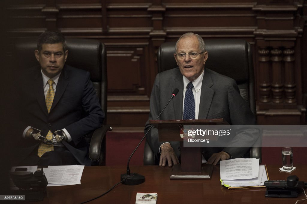President Kuczynski Testifies Before Congress During Impeachment Proceedings