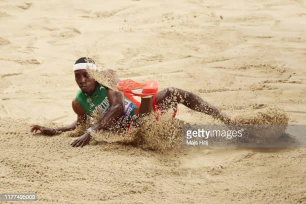Pedro Pablo Pichardo of Portugal competes in the Men's Triple Jump during day one of 17th IAAF World Athletics Championships Doha 2019 at Khalifa...