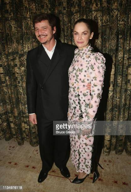 Pedro Pascal and Ruth Wilson pose at the opening night after party for the new production of King Lear on Broadway at The Bowery Hotel on April 4...