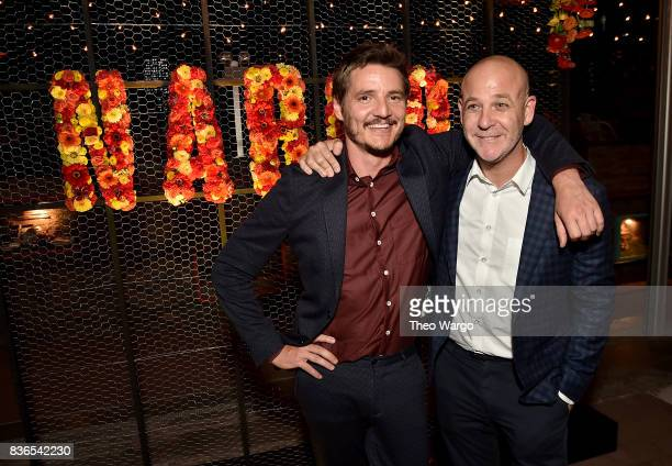 Pedro Pascal and VP Original Series at Netflix Peter Friedlande attend the Narcos Season 3 New York Screening After party on August 21 2017 in New...