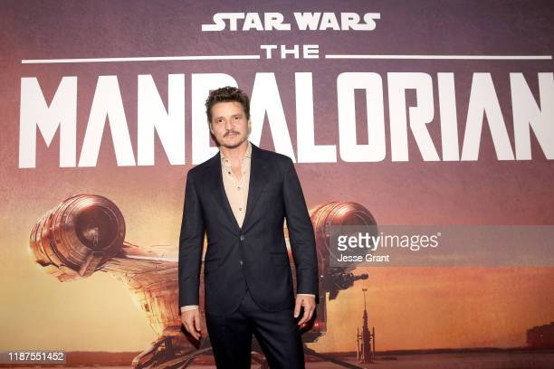 Pedro Pascal arrives at the premiere of Lucasfilm's firstever liveaction series The Mandalorian at the El Capitan Theatre in Hollywood Calif on...