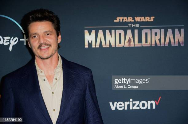 """Pedro Pascal arrives for the Premiere Of Disney+'s """"The Mandalorian"""" held at El Capitan Theatre on November 13, 2019 in Los Angeles, California."""