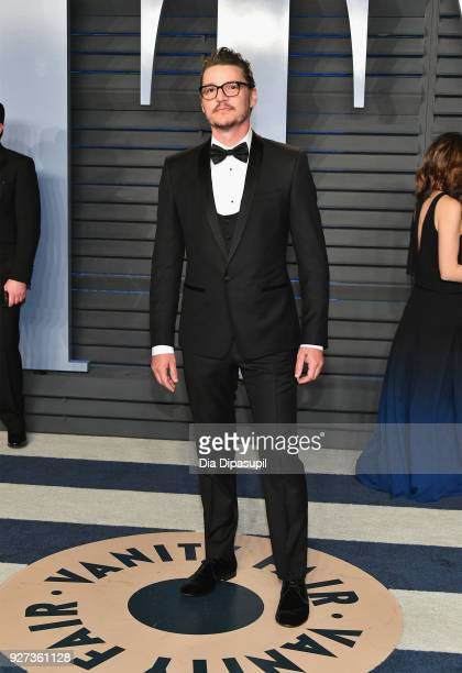 Pedro Pascal attends the 2018 Vanity Fair Oscar Party hosted by Radhika Jones at Wallis Annenberg Center for the Performing Arts on March 4 2018 in...