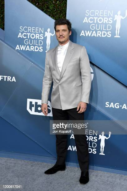 Pedro Pascal attends the 26th Annual Screen Actors Guild Awards at The Shrine Auditorium on January 19 2020 in Los Angeles California