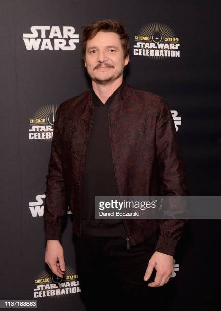 Pedro Pascal attends The Mandalorian panel at the Star Wars Celebration at McCormick Place Convention Center on April 14 2019 in Chicago Illinois