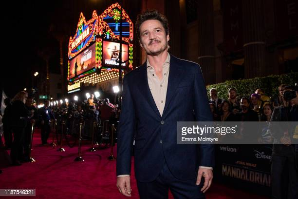 Pedro Pascal attends the premiere of Disney+'s 'The Mandalorian' at El Capitan Theatre on November 13, 2019 in Los Angeles, California.