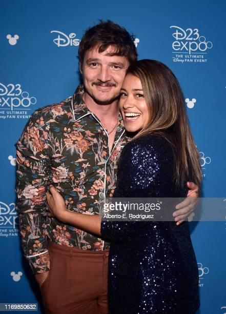 Pedro Pascal of 'The Mandalorian' and Gina Rodriguez of 'Diary of a Female President' took part today in the Disney Showcase at Disney's D23 EXPO...
