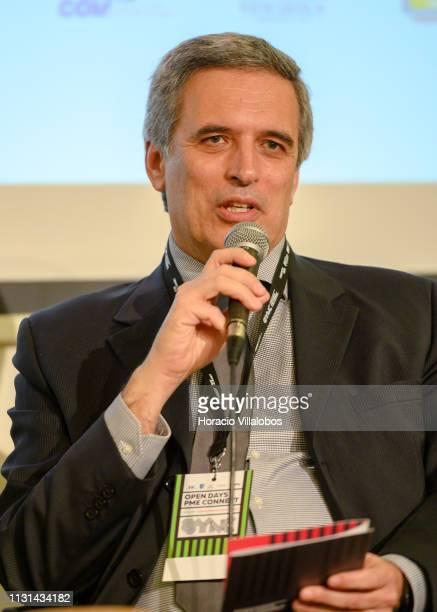 Pedro Pereira Administrator of TPF Consultores de Engenharia e Arquitetura SA participates in a discussion panel at 'Open Days PME Connect' business...
