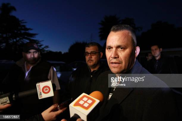 Pedro Rivera JR confirms to the press that remains found in northern Mexico are of his sister singer Jenni Rivera who died in a plane crash aged 43...