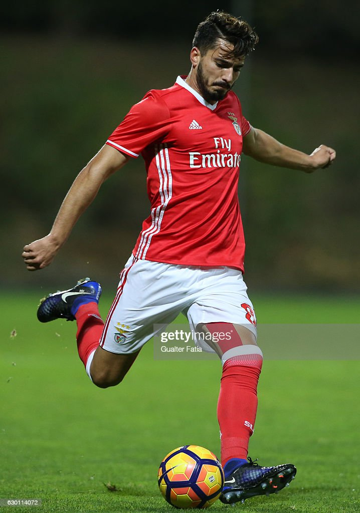 Pedro Rodrigues of SL Benfica B in action during the Segunda Liga match between SL Benfica B and Sporting CP B at Caixa Futebol Campus on December 16, 2016 in Seixal, Portugal.