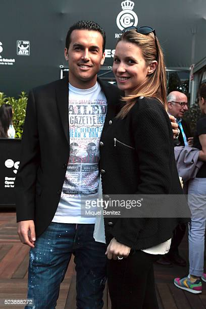 Pedro Rodriguez Ledesma and Carolina Martin attend the Barcelona Open Banc Sabadell at the real Club de Tenis Barcelona 1899 on April 24 2016 in...