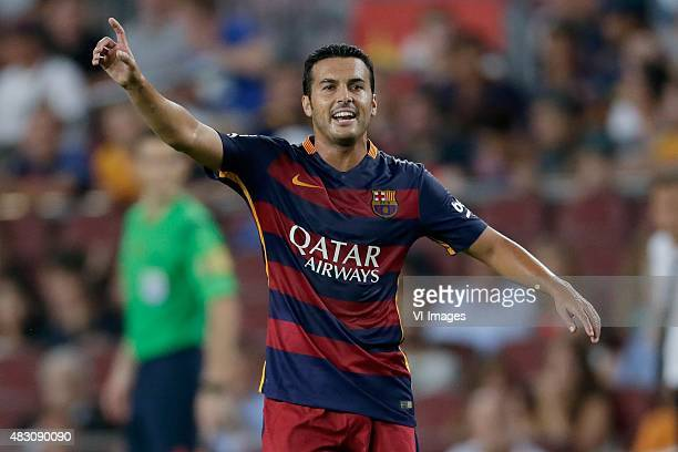 Pedro Rodriguez Ledesma of FC Barcelona during the Joan Gamper Trophy match between Barcelona and AS Roma on August 5 2015 at the Camp Nou stadium in...