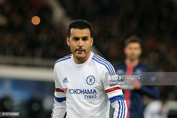 Pedro Rodriguez of Chelsea FC during the UEFA Champions League round of 16 between Paris SaintGermain and Chelsea FC at Parc Des Princes on february...