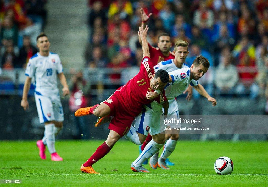 Spain v Slovakia - UEFA EURO 2016 Qualifier : News Photo