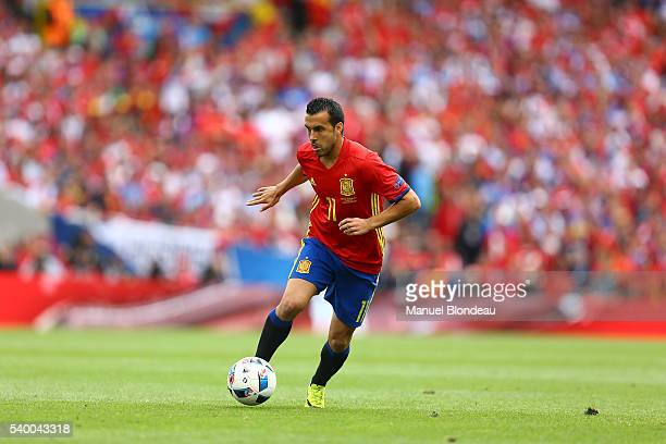 Pedro Rodriguez of Spain during GroupD preliminary round between Spain and Czech Republic at Stadium Municipal on June 13 2016 in Toulouse France
