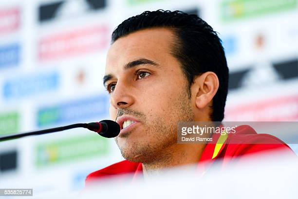 Pedro Rodriguez of Spain faces the media during a press conference before a training session on May 30 2016 in Schruns Austria