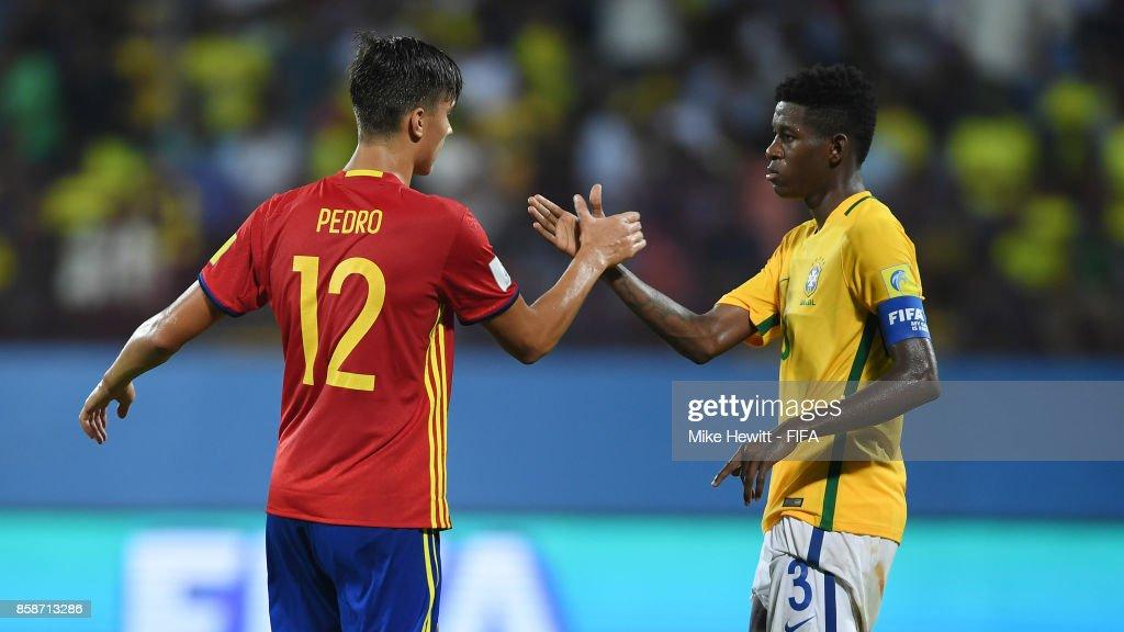 Brazil v Spain - FIFA U-17 World Cup India 2017 : News Photo
