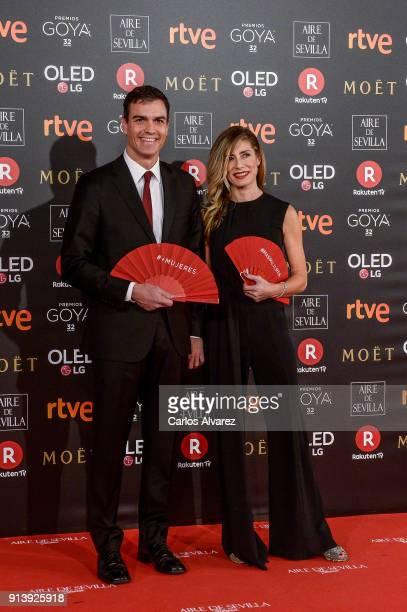 Pedro Sanchez and Begona Gomez attend Goya Cinema Awards 2018 at Madrid Marriott Auditorium on February 3 2018 in Madrid Spain