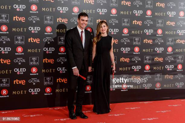 Pedro Sanchez and Begona Gomez attend Goya Cinema Awards 2018 at Madrid Marriott Auditorium on February 3 2018 in Madrid Spain