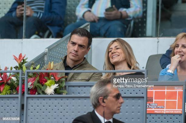 Pedro Sanchez and Begona Gomez during day seven of the Mutua Madrid Open tennis tournament at the Caja Magica on May 11 2018 in Madrid Spain