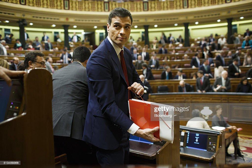Spanish Government Investiture Debate : News Photo