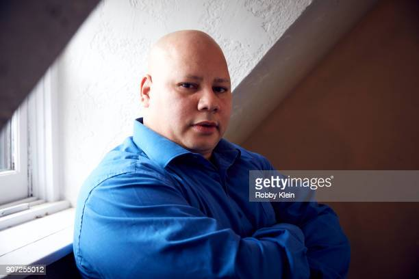 Pedro Serrano from the film 'Crime and Punishment poses for a portrait in the YouTube x Getty Images Portrait Studio at 2018 Sundance Film Festival...
