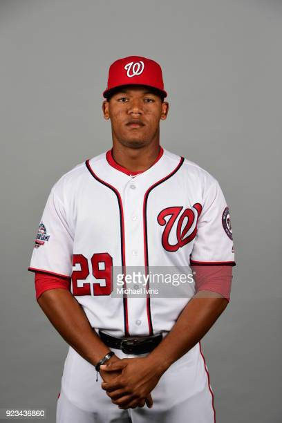Pedro Severino poses during Photo Day on Thursday February 22 2018 at the Ballpark of Palm Beaches in West Palm Beach Florida