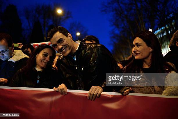Pedro Sánchez during International Women's Day in Madrid on 8th March 2016