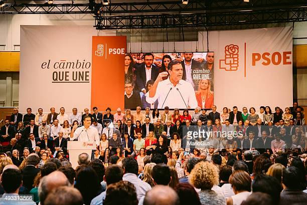 Pedro Sánchez - Socialist act in Madrid.