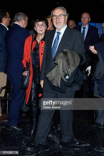 Pedro Solbes attends '40 Años de Diplomacia en Democracia Una Historia de Exito' exhibition at Casa de America on November 29 2018 in Madrid Spain