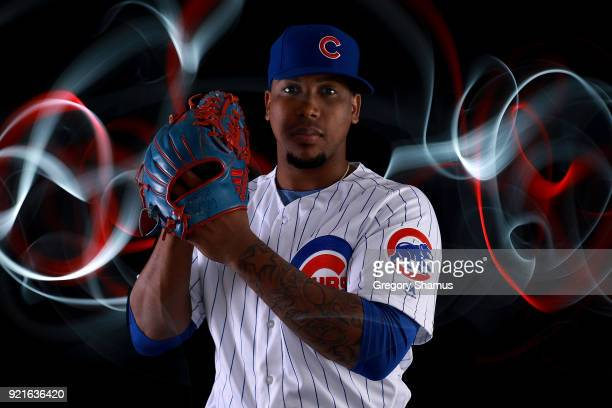 Pedro Strop of the Chicago Cubs poses during Chicago Cubs Photo Day on February 20 2018 in Mesa Arizona